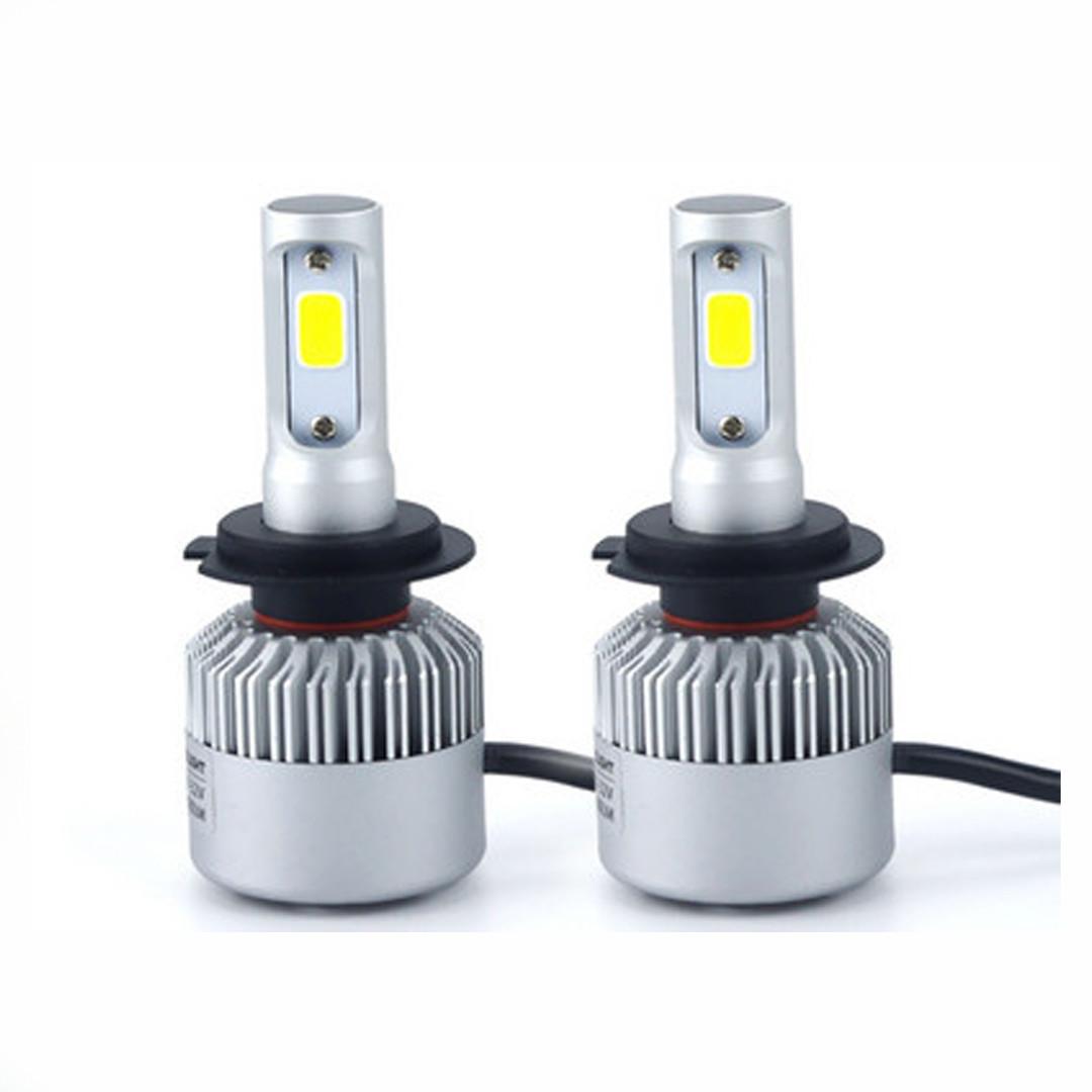 LED-лампы автомобильные H7 6500K, 8000Lm ЛЭД лампы с охлаждением +ПОДАРОК!