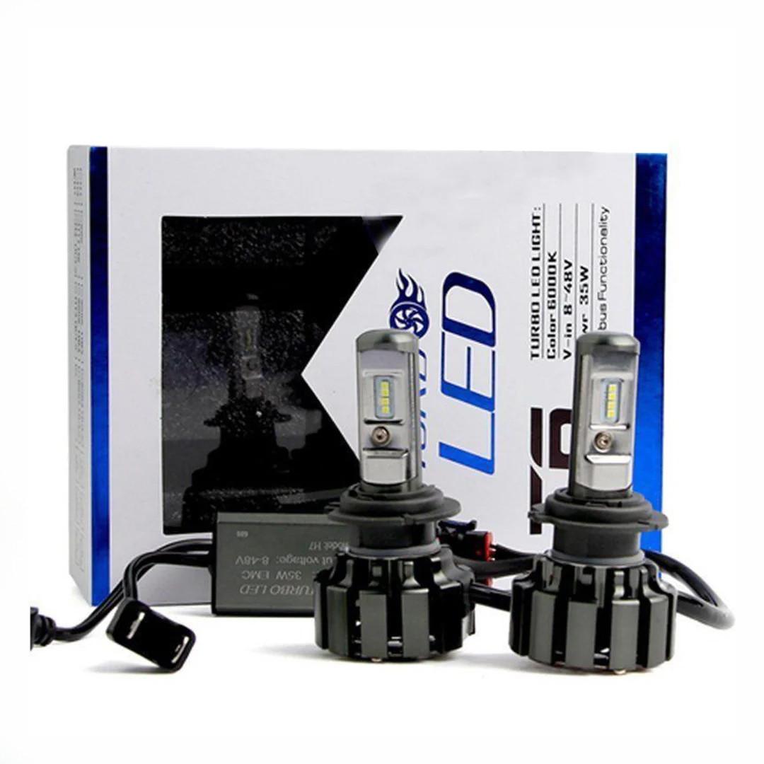 Комплект светодиодных ЛЭД ламп T6-H1 Turbo LED (Автомобильные лампы Т6)+ПОДАРОК!