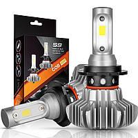 LED лампы H7 6500K S9 3800 Lm автомобильные светодиодные лампыцоколь Н7 на ближний или дальнийкомплект 2 шт.