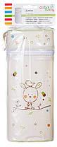 Термоконтейнер Ceba Baby Jumbo 70*80*230мм универсальный  беж-салатовый (зайчик, птичка)