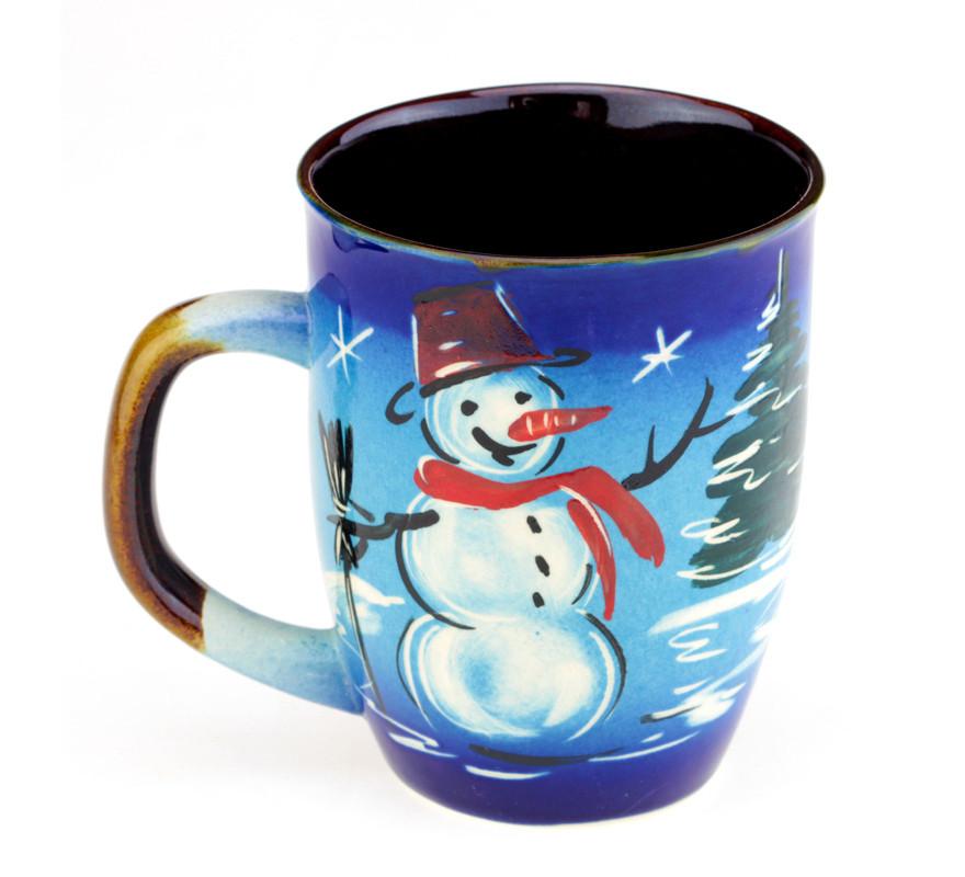 Чашка для чая керамическая Снеговик