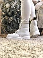 Женские зимние ботинки Dr. Martens (белые)