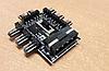 Перехідник з molex на 8 кулерів розгалужувач молекс 3 pin hub