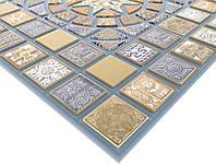 Панель ПВХ Регул Медальон синий 0,4х480х957мм
