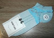 Носки женские Tongran с прозрачным верхом размер 22-24 см