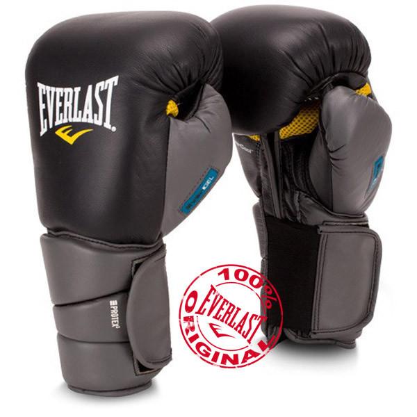 Перчатки для бокса. Оригинальные боксерские перчатки Everlast Protex3 Gel 14 oz