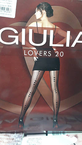 """Фантазийные колготки с узором в виде имитации шваиз """"сердец"""" GIULIA Lovers 20 model 13, фото 2"""