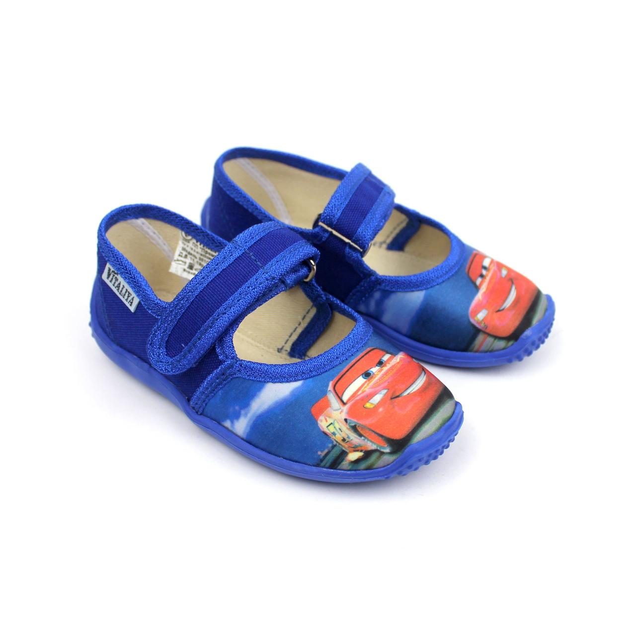 Тапочки в садок на хлопчика тачки взуття Віталія розмір 23,24