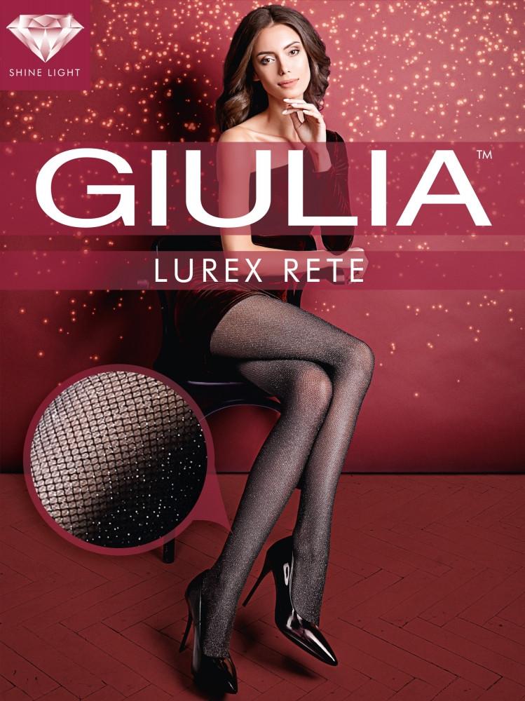 Фантазийные колготки женские с люрексом GIULIA Lurex Rete 40