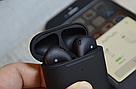 Беспроводные наушники AirPods 2 Black Matte (Люкс копия), фото 7