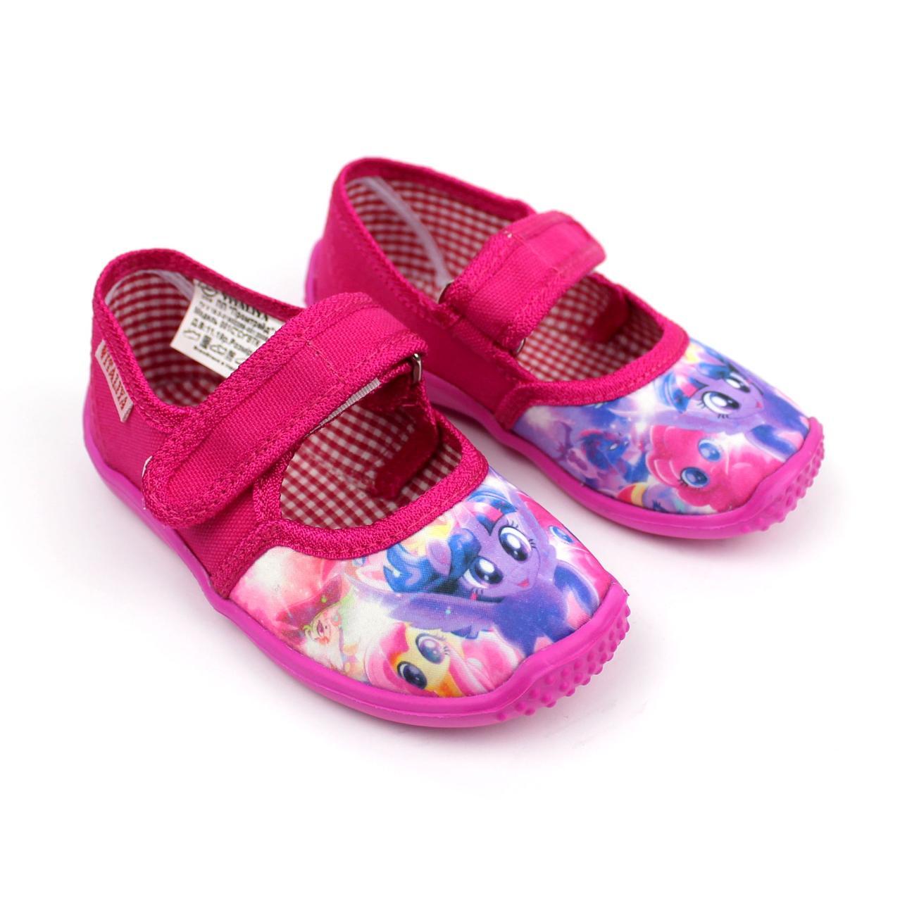 Тапочки в садик на девочку Пони текстильная обувь Vitaliya Виталия Украина р.23,24,25,5