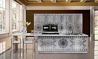 Кухня с рисунком аэрографии и фото печатью