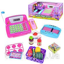 """Детский кассовый аппарат """"Мой магазин""""  7017 световые и звуковые эффекты. Активный калькулятор и микрофон"""