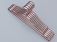 Плечики вешалки тремпеля металлические ПТ41 цвет меди ( красное золото), длина 41 см, в упаковке 5 штук