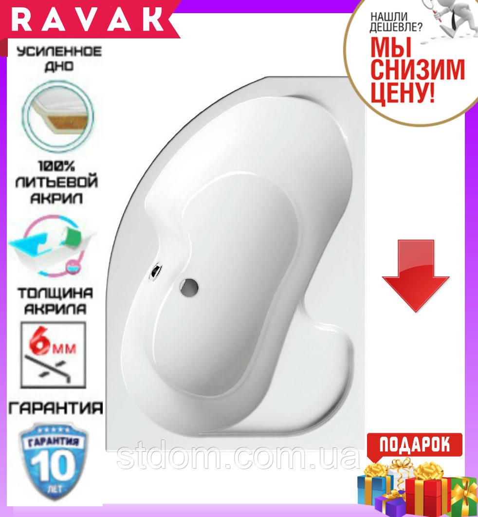 Акриловая ванна 160x105 см Ravak Rosa I CL01000000 правосторонняя