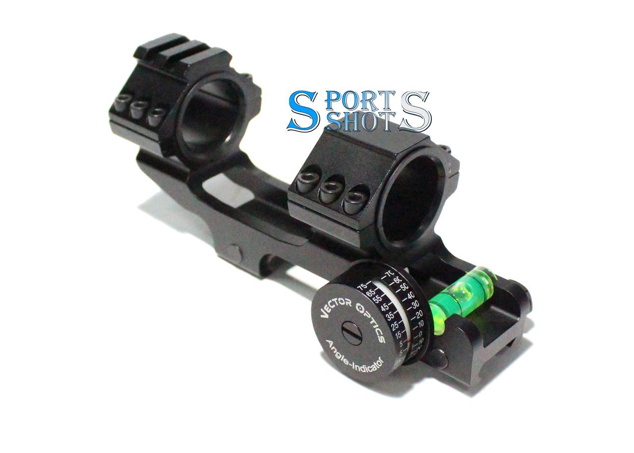 Моноблок Vector Optics з індикатором кута; Ø 25,4 мм Ø 30 мм, Weaver, для оптичного прицілу