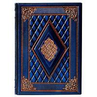 Ежедневник кожаный Сонет а5 синий