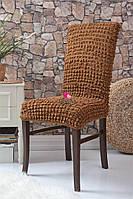 Чехлы натяжные на стулья без оборки (набор 6-шт) Venera 10-210 Темно - Бежевый