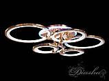 Стельова світлодіодна смарт люстра 8022/6G LED 3color dimmer, фото 2