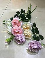 Цветы искусственные для декора, Роза чайная 63см