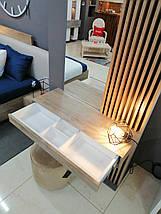 Дамский стол с зеркалом и декоративными панелями  Sherwood Endgrain, фото 2