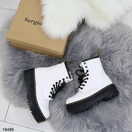 Белые кожаные ботинки, фото 2