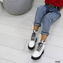 Белые кожаные ботинки, фото 3