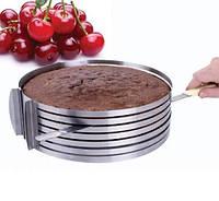 Форма для нарезки бисквита раздвижная 24-30см