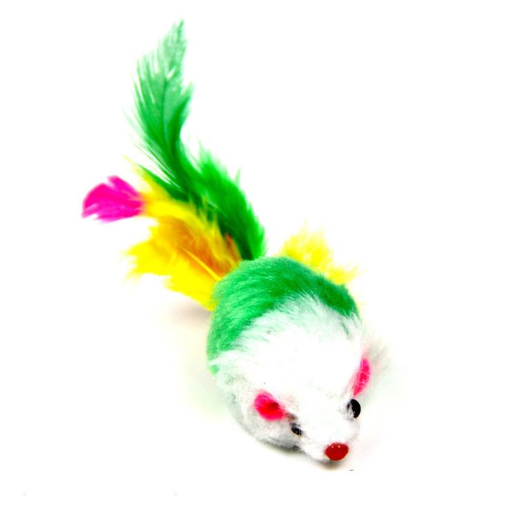 Іграшка для котів Zizi Мишка брязкальце зелена 5 см