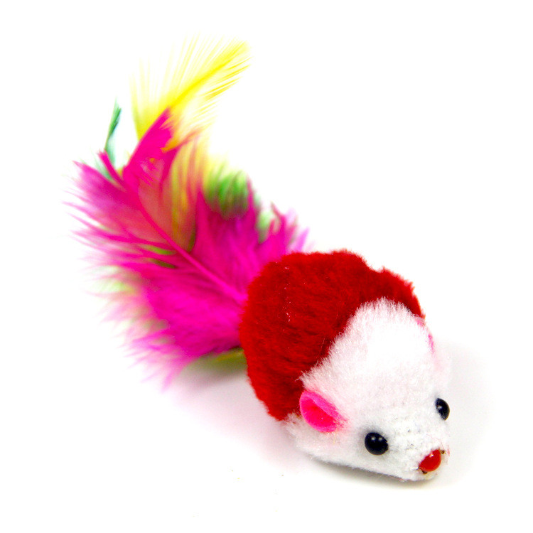 Іграшка для котів Zizi Мишка брязкальце червона 5 см