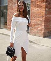 Платье Космо вечернее свадебное R449 белое