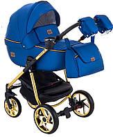 Детская коляска универсальная 2 в 1 Adamex Hybryd Plus Polar (Gold) кожа 100% Y220A (Адамекс, Польша)