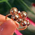 Золотое кольцо Шарики - Женское необычное золотое кольцо, фото 9
