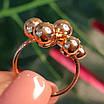 Золотое кольцо Шарики - Женское необычное золотое кольцо, фото 8