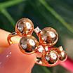 Золотое кольцо Шарики - Женское необычное золотое кольцо, фото 7