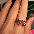 Золотое кольцо Шарики - Женское необычное золотое кольцо, фото 6