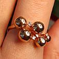 Золотое кольцо Шарики - Женское необычное золотое кольцо, фото 5