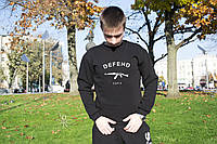 Осенний мужской свитшот, кофта, реглан, чоловічий світшот, толстовка в стиле Defend Paris Big logo.