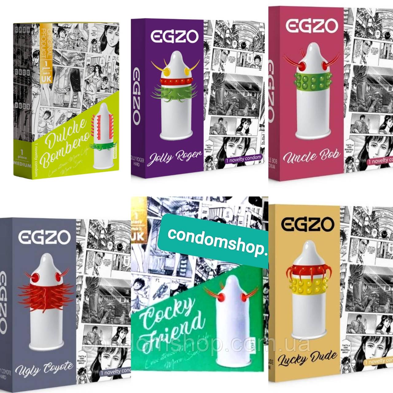 Презервативы с усиками EGZO.  6 пачек  .Великобритания.Премиум качество.