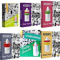 Презервативы с усиками EGZO.  6 пачек  .Великобритания.Премиум качество., фото 1