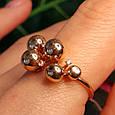 Золотое кольцо Шарики - Женское необычное золотое кольцо, фото 4