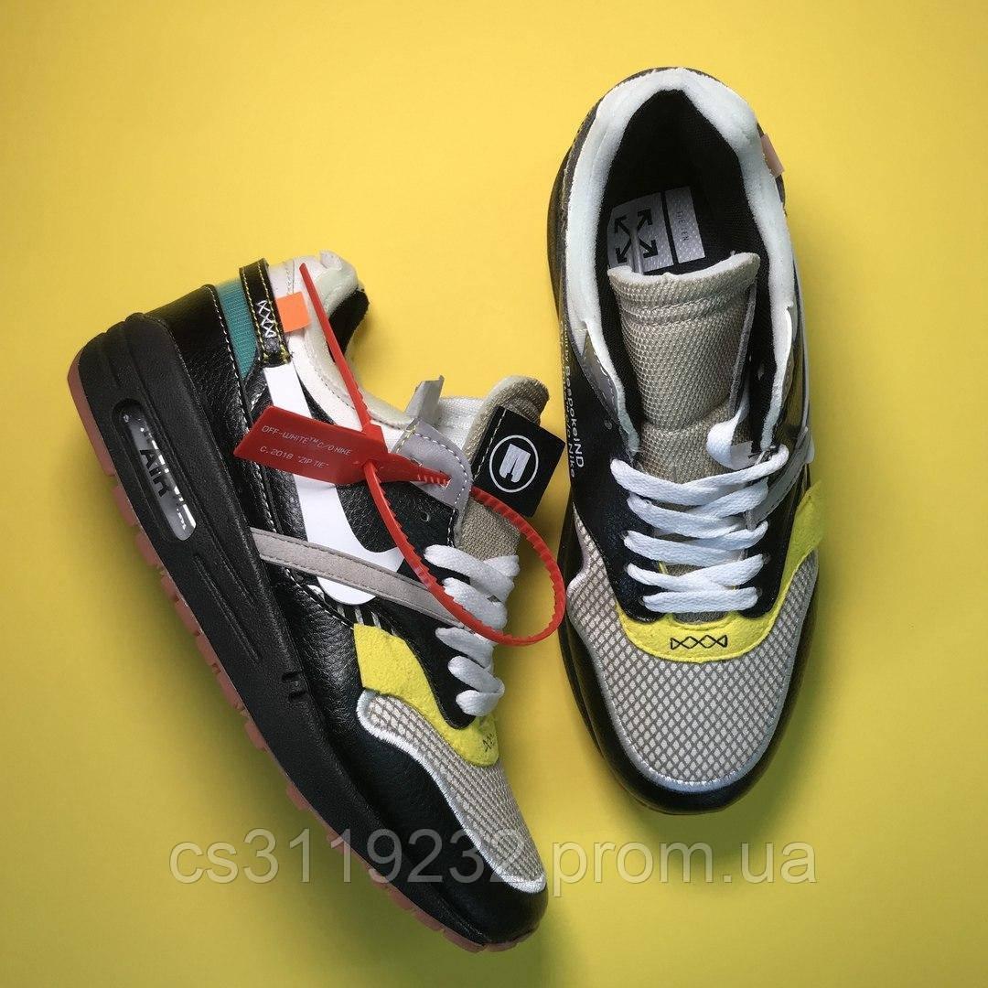 Чоловічі кросівки Nike Air Max 87 Og X Off-White (чорні)