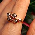 Золотое кольцо Шарики - Женское необычное золотое кольцо, фото 3