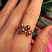 Золотое кольцо Шарики - Женское необычное золотое кольцо, фото 2