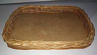 Плетеная корзина плетеный лоток 35 * 25 * 5 см б/у