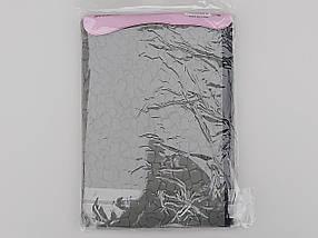 Чехол для хранения и упаковки одежды  утолщенный флизелиновый  серого цвета. Размер 60 см*130 см., фото 3