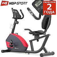 Горизонтальный велотренажер HS-035L Solo Red до 135 кг. Магнитный