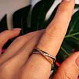 Тройное кольцо из комбинированного золота - Кольцо дорожка из лимонного, белого и красного золота 585 пробы, фото 7