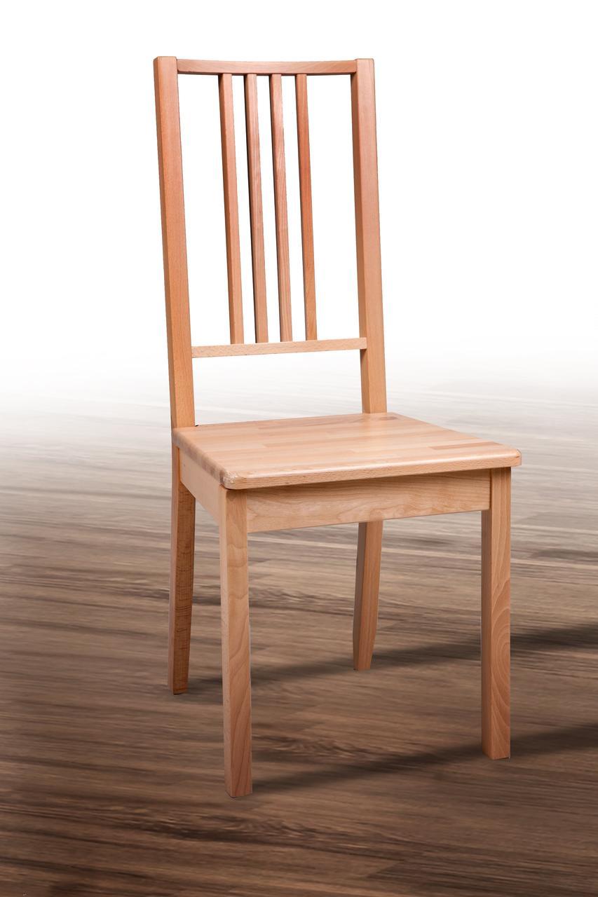 Стул деревянный Классик твердый (бук натуральный)