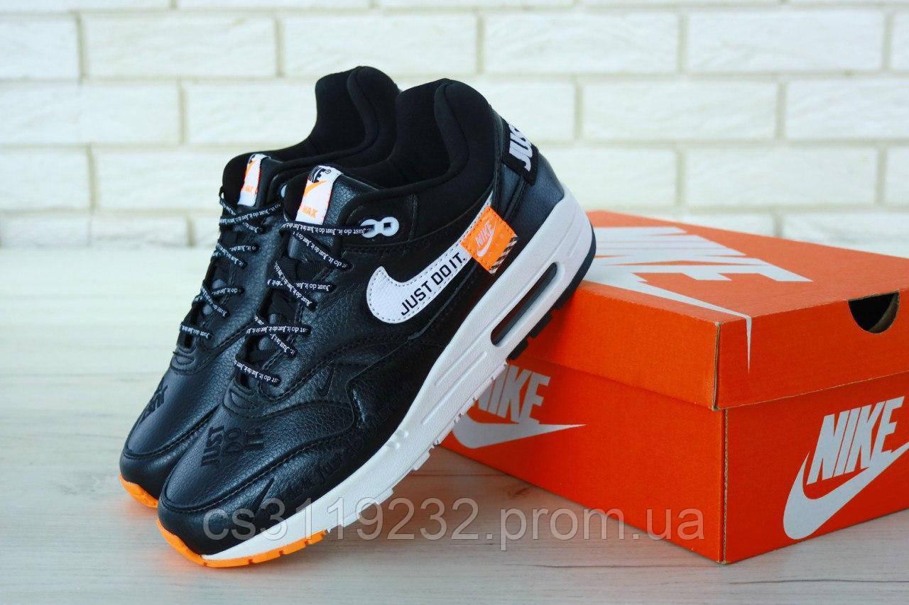 Мужские кроссовки Nike Air Max 87 Black Just Do It (черные)